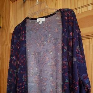 LuLaRoe Purple Geometric Robe Size L